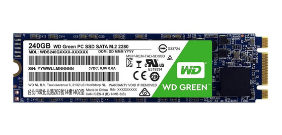 Disco sólido interno Western Digital WD Green WDS240G1G0B 240GB verde