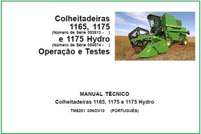 Manual De Diagnostico E Testes Colheitadeiras Jd 1165 E 1175