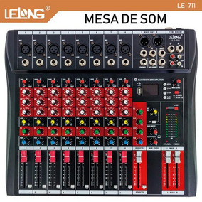 Mesa De Som Bluetooth Usb Mixer Mp3 Player Digital 8 Canais