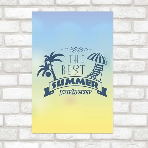 Imagem 1 de 2 de Poster Decorativo Férias Best Summer N012164 30x40cm