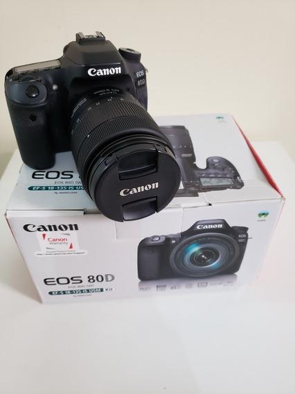 Canon Eos 80d 18-55mm Is Stm Kit Dslr Preta