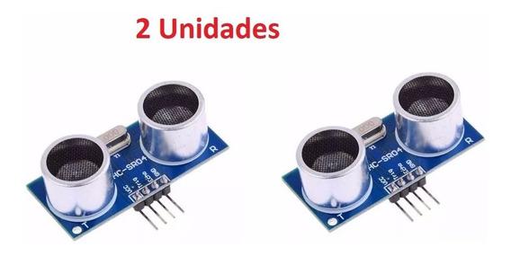2 Unidades Sensor De Distância Ultrassônico Hc-sr04