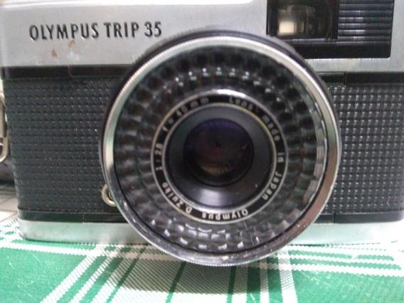 Relíquia Analógica Olympus Trip 35 Com Flash Fontron 808