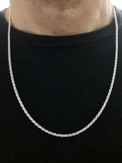 Cordão Baiano 60cm 6.2 Grama Em Prata Pura 925 + Brinde !!!