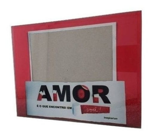 Porta-retrato Quadro Fotos 22x17cm Imaginarium Amor