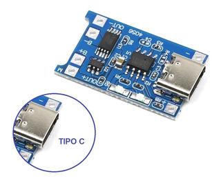 Módulo Cargador Batería De Litio Lipo 1a Tipo C 5v Tp4056