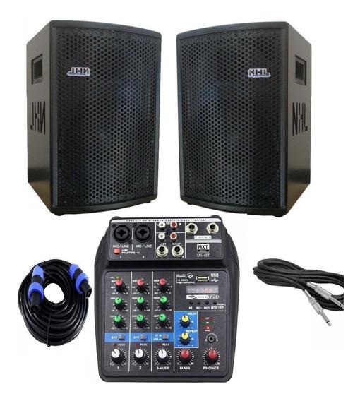 Caixa Som Ativa P Oversound 600w Mesa Usb Bluetooth P10 Xlr