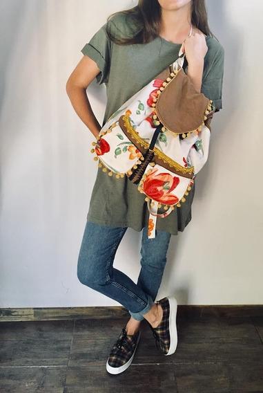 Mochila Backpack Mujer Diseño Unica Grande Boho Vs Modelos