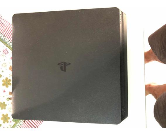 Ps4 Slim, Usado, Hd 500gb, Com 6 Jogos E Dois Controles.