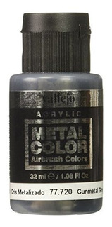 Vallejo Acrilicos Metal Color Gunmetal Gris 32 Ml Por Valle