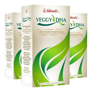 Kit 3x Veggy Dha Ômega-3 100% Vegetal (30 Cáps) - Naturalis
