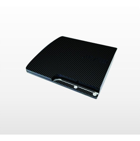 Capa Adesivo Skin Playstation 3 Ps3 Slim Fibra De Carbono