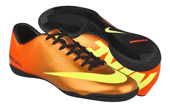 Tenis De Fut 7 Nike Hombre Simipiel Naranja 555614778