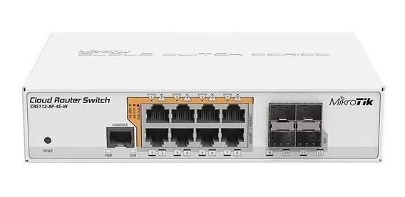 Mikrotik Smart Switch Crs112-8p-4s-in L5 Com Nfe