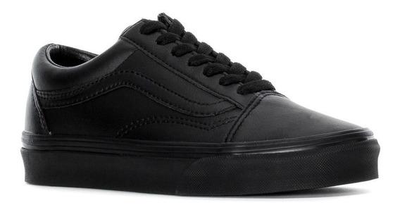 Tenis Vans All Black Old Skool Classic De Hombre Originales