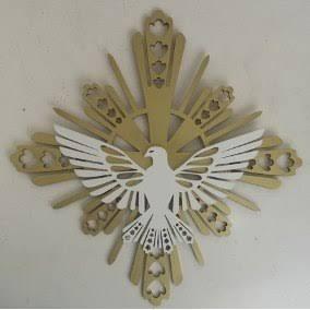 Vetor De Corte, Ornamento Espirito Santo, Cnc Laser