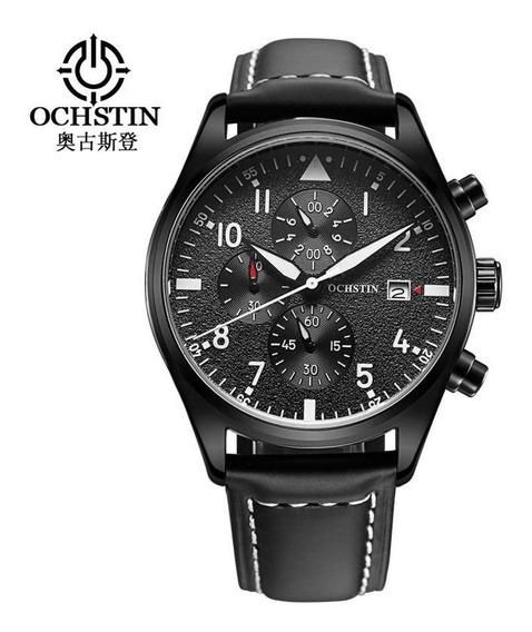 Relógio Masculino Ochstin 6043 Black Inox À Prova D