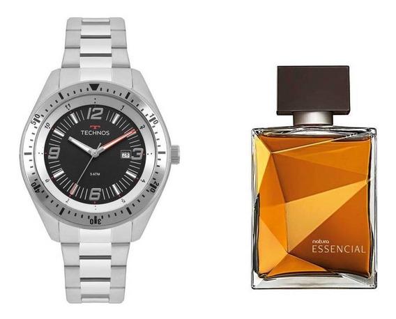 Relógio Technos Masculino + Presente Natura Essencial