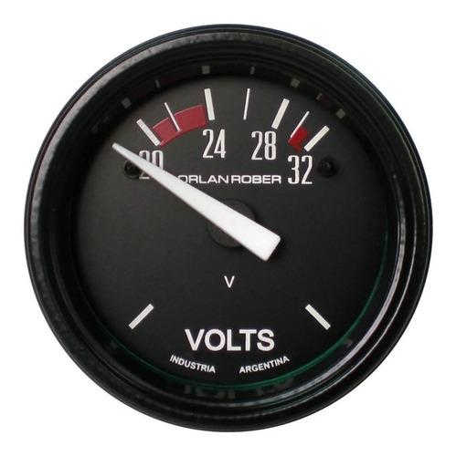 Voltimetro Orlan Rober Classic 52mm 24v + 2 Lamparas 24v H4