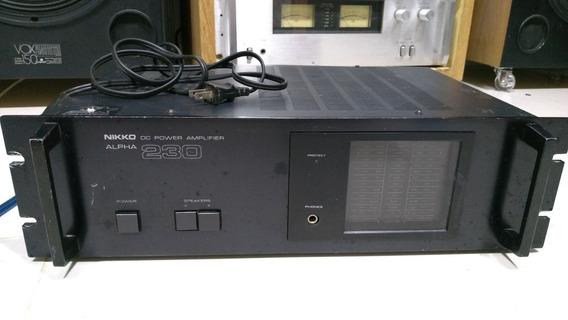 Amplificador Nikko Alpha 230 Fita Gradiente Polyvox Cygnus