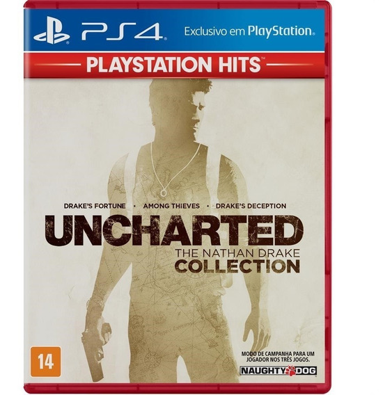 Uncharted The Nathan Drake Collection Ps4 Mídia Física Nf