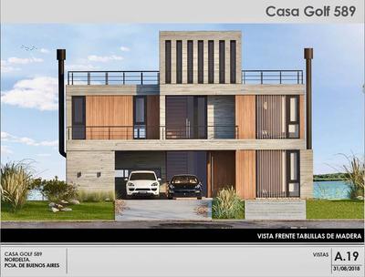 Dueño Vende, Casa Moderna De Hormigón Al Lago Central