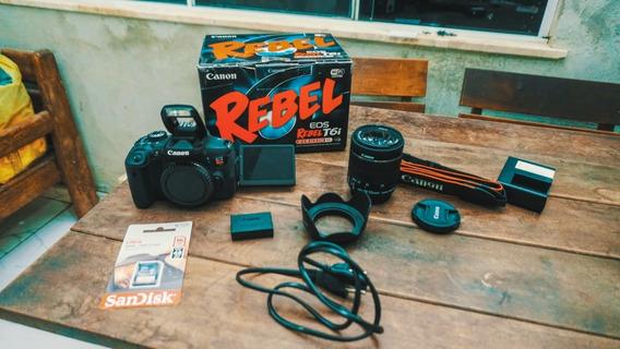 Canon T6i + Caixa + Lente 18-55 + Cartão 16gb + A Vista 2299