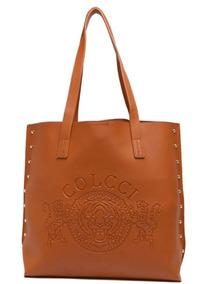 Bolsa Shopper Colcci Tachas Caramelo - Nova E Original