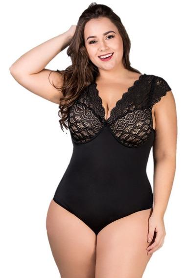 Body Redutor Renda Plus Size Tamanhos 46 48 50 52 54