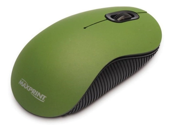 Mouse Maxprint Otico Usb Verde 609228 24165