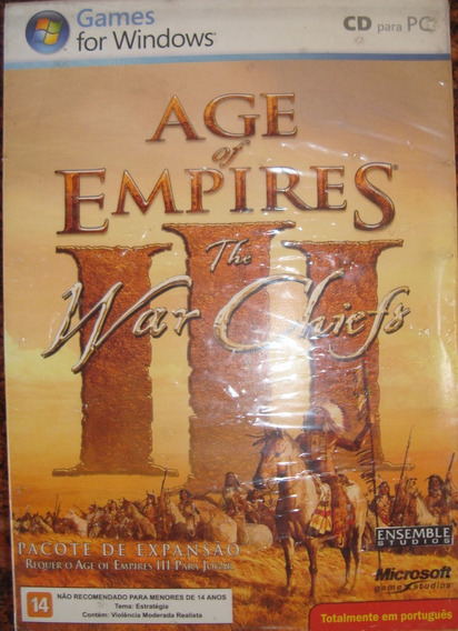 Pc Age Of Empires 3 The War Chiefs - Novo- Lacrado- Original
