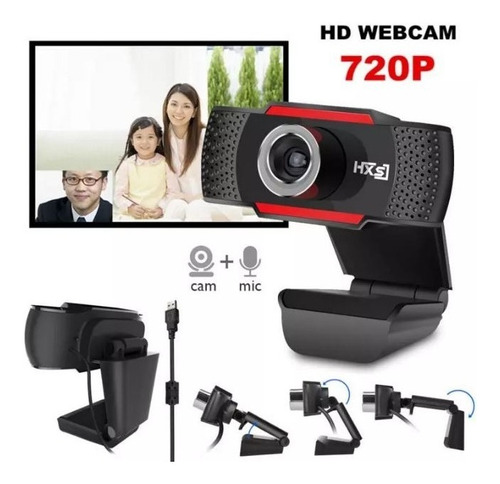 Cámara Web Usb 720p Hd Con Micrófono Integrado, Para Pc