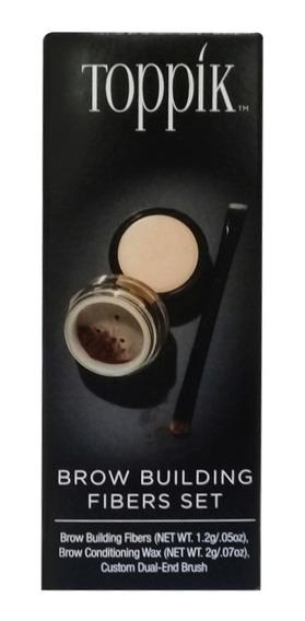 Set Engrosamiento Cera Modeladora Cejas Café Obscuro Toppik