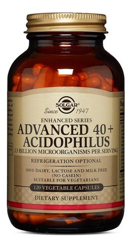 Solgar Advanced 40 Plus Acidophilus 120 Vegetable Capsules
