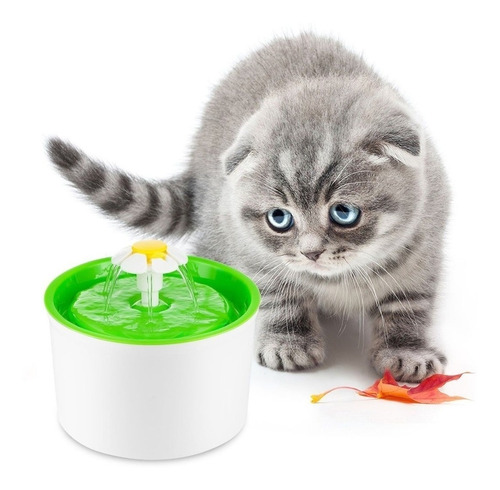 Imagen 1 de 5 de Moda Automático 1.6l Perro Gato Mascotas Agua Bebedero Masco