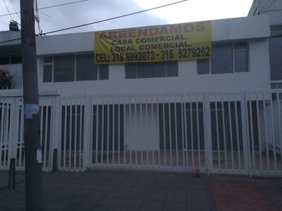 Arriendo Casa Comercial Con Local, Uso Salud.