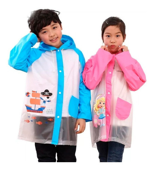 Chaqueta Impermeable Infantil Protector Lluvia Ponch Kid Mnr