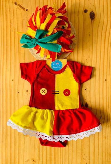 Body Emilia Sitio Bebê Mesversário Festa Fantasia Sitio
