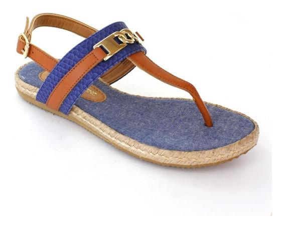 Sandalia Para Mujer Rafael Ferrigno 1025-036441 Color Azul
