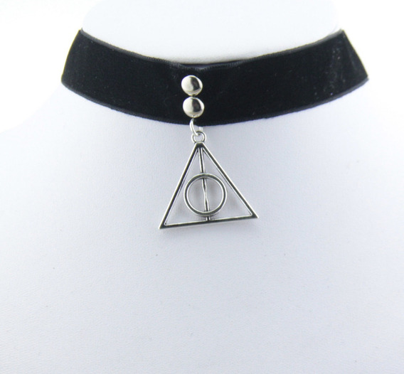 Gargantilha Chocker Veludo Harry Potter Relíquias Da Morte