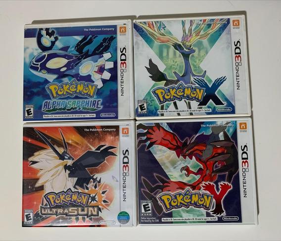 Lote Com 04 Jogos Pokemon 3ds (original)