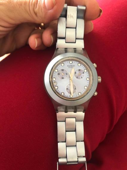 Relógio Swatch Feminino Azul Claro