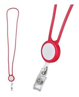 Porta Gafete Con Clip Para Credencial. Pack 2 Pzas