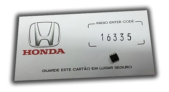 Ci De Memória Code P/ Rádio Honda / Fit /city C/cartão Key