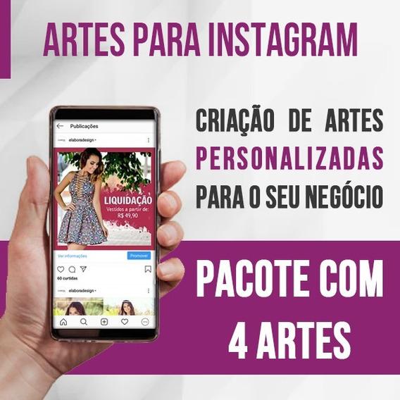 Criação De 4 Artes Profissionais Para Instagram Ou Facebook