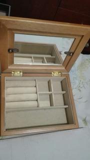 Caja Alhajero Porta Anillos Con Espejo Y Portaretratos