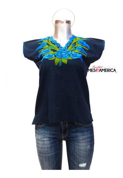 Blusa Mexicana Artesanal Bordada