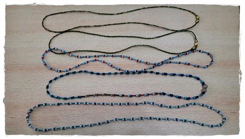 Collares De Mostacillas - Lote De 34 Collares - Liquidación
