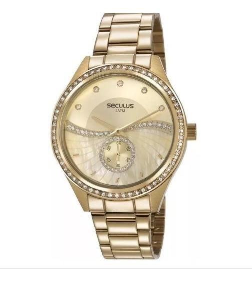 Relógio De Pulso Seculus Feminino Dourado 20612lpsvds1