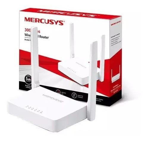 Roteador Wifi Mercusys Mw301r 300 Mbps 2 Antenas Kit Com 10